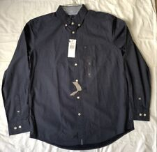 NWT Tommy Hilfiger Mens Long Sleeve Button Down Blue Classic Fit M