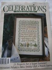 Summer 1993 Celebrations to Cross Stitch & Craft Back Issue Magazine Sampler