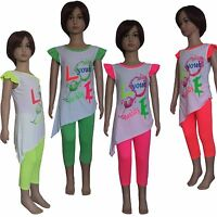 New Girls Tunic/ Dress/Long Top&Leggings 2 Pieces Set /Summer Outfit 2-10yrs #70
