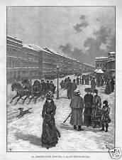 RUSSLAND - ST. PETERSBURG - LA PERSPECTIVE NEWSKI  1900