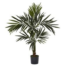 Decorative Natural Looking Artificial Potted 5' Kentia Palm Silk Tree Plants