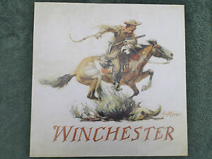 Winchester Horse & Rider Poster