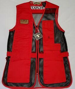 Rare NWT Bob Allen Medium Mesh Shooting Vest Red/Black NRA Patch