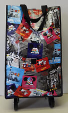 Minnie Mickey Mouse Multi-Color City Shopper Tote Bag Handbag on Wheels