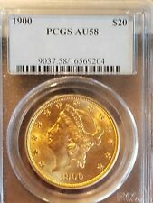 1900 $20 Dollar Liberty Gold Double Eagle PCGS AU58 (Better Coin)
