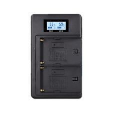 LCD Dual Charger For Sony F970 F950 F770 F570 CCD-RV100 NP-F550 NP-F770 NP-F750