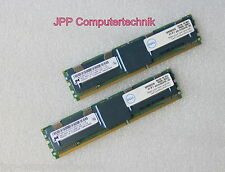 8GB 2x 4GB Ram DELL Poweredge 1950 2950 2900 Server Speicher PC2-5300F FB DIMM