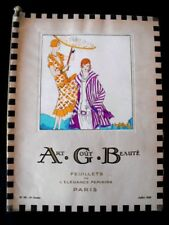 Art Goût Beauté juillet 1925 Art-Déco Feuillets Elegance Féminine Vintage