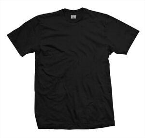 T-Shirt blanko schwarz mit Rundhalsausschnitt 100% Baumwolle 190g ohne Aufdruck