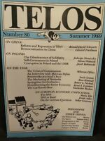 Telos : A Quarterly Journal of Critical Thought  by Paul Piccone (ed)1985 - 89