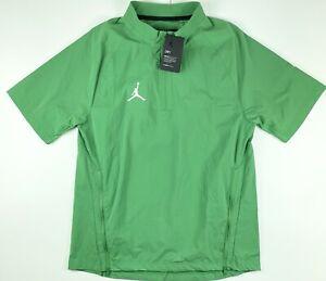 Jordan Woven 1/2 Zip Pullover Jacket Green CD2220-377 Medium $75
