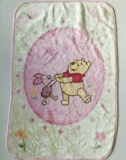 Winnie The Pooh Piglet Plush Throw Blanket Crown Crafts Disney Baby Flowers