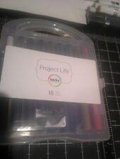 Project Life Becky Higgins slick writer journaling pen set - 18 red brown black