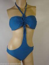 Monokini blu per il mare e la piscina da donna