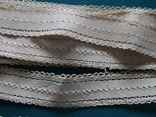 galon coton, écru, total 11.80 m X 4 cm, ancien