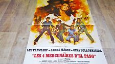 LES 4 MERCENAIRES D'EL PASO ! lee van cleef  Lollobrigida affiche cinema western