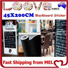 Blackboard Chalkboard Decal Vinyl Wall Sticker Sign Display Paper Shop Menu Home
