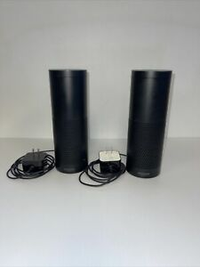 Amazon Echo 1st Generation Alexa Smart Speaker Bluetooth Black SK705DI Lot of 2