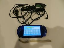 Madden Metallic Blue Sony PSP 3001 System Console Tested & Working RARE
