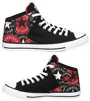 New CONVERSE Chuck Taylor Street Hi Top Athletic Sneakers Mens black all siz