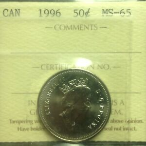 1996 - Nickel Fifty Cent - ICCS - MS-65