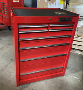"""PROTO J442742-8RD Rolling Tool Cabinet 27"""" x 18"""" x 42"""" Red"""