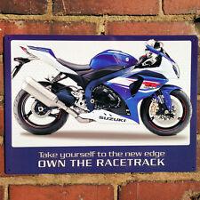 SUZUKI gxr1000 Moto Métal Signe Mur plaque étain 40x30cm garage art 50903