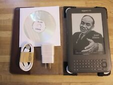 Amazon Kindle Keyboard-Free 3G-Wi-Fi-1400 Books on CD-No Ads-Bundle-See Pictures