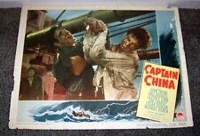CAPTAIN CHINA orig 1950 lobby card JOHN PAYNE/LON CHANEY JR 11x14 movie poster