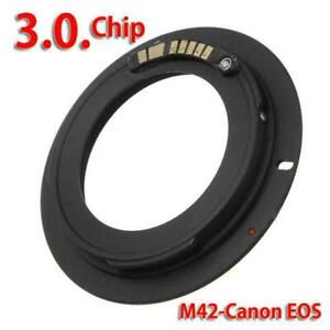 M42 Chips Lens Adapter Ring For AF Confirm to EF EOS Camera Fast.