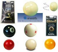 Aramith Pool and Snooker Balls - All Sizes and Types - Pool, Snooker, USA Pool