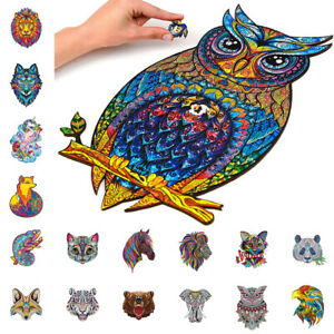 A3 Wooden Jigsaw Puzzles Unique Animal Shape Home DecorAdult Kid Child Toy Gifts