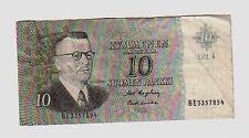 Finlandia Finland  10  marchi   1963  BB  G   pick 104   lotto 824