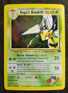 Koga's Beedrill Holo (Gym Challenge 9/132) WotC vintage Pokemon Pokémon card NM