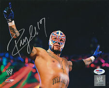 REY MYSTERIO SIGNED AUTO'D 8X10 PHOTO PSA/DNA COA WWE ECW WCW AAA LUCHA MASK C