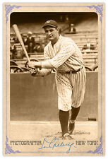 Baseball Legend Lou Gehrig Vintage Photograph A++ Reprint Cabinet Card Autograph