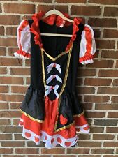Queen of Hearts Halloween COSTUME USA Red Theater JUNIOR 7-9 MSRP $50.00