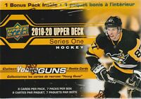 2019-20 Upper Deck Series 1 NHL Hockey Trading Cards 7pk Blaster Box = 56c.