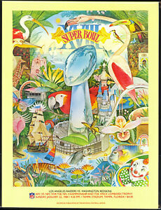 SUPER BOWL XVIII GAME PROGRAM: LOS ANGELES RAIDERS vs. WASHINGTON REDSKINS NM-MT
