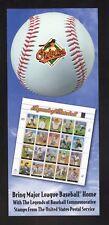 Baltimore Orioles--2000 Schedule--USPS Legends of Baseball