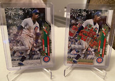 JAVIER BAEZ SP GIFTS and SNOW SP Variations 2020 Topps Holiday #HW67
