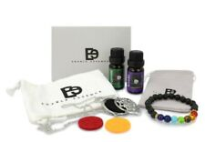 Essential Oils Gift Set 10 ml   Diffuser Necklace with Chakra Bracelet