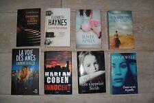 LOT DE 8 TRES BONS LIVRES : HARLAN COBEN , SCALESE , DE ROSNAY...