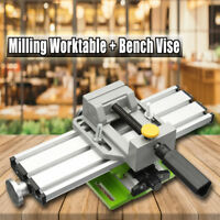 Multifunction Milling Machine Worktable + Bench Vise Repair Mechanic 2 Axis