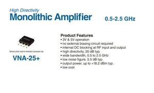 2 X Mini-Circuits VNA-25+   Monolithic MMIC Amplifier 50MHz-2.5GHz