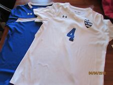 2-women size MD M #4 CHELSEA Soccer Jersey Shirt White Blue Under Armour Maquina