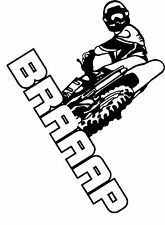 Braaap Motocross sticker, 10x7 dirt bike decal, trailer decal, motorcycle decal