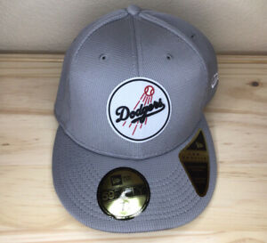 NEW LA Dodgers 7 1/2 New Era Gray Clubhouse Low Profile 59FIFTY Fitted Hat