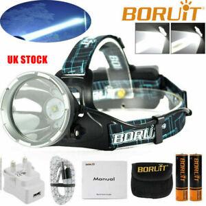 BORUiT XM-L L2 LED USB Fishing Headlamp 18650 Head Spotlight Torch Lamp 900000LM