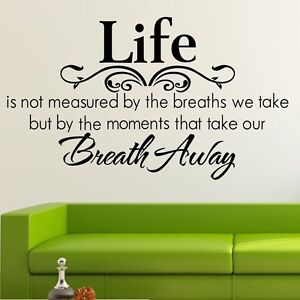 Life Breath Away Wall Quote Removable Art Decal Vinyl Sticker Mural Decor DIY